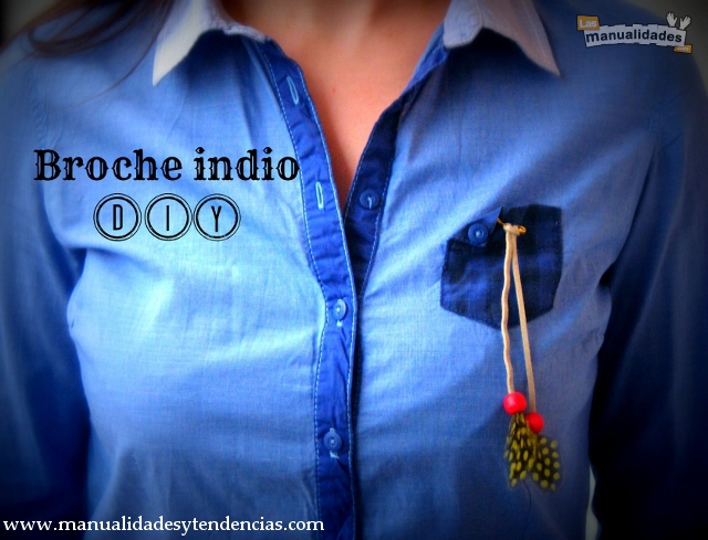 DIY Broche indio con plumas / Indian brooch / Tutoriel Broche indienne