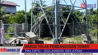 Video Warga Tolak Pembangunan Tower