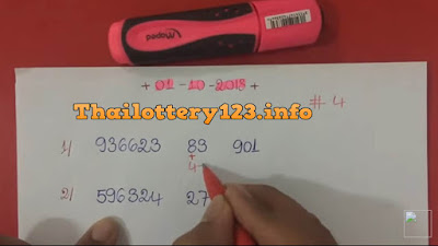 Thailand lottery VIP 3UP pair formula numbers 01 October 2018