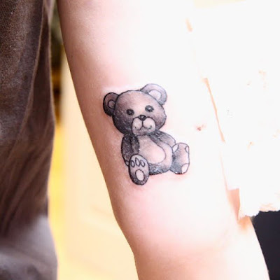 teddy bear tattoo for women