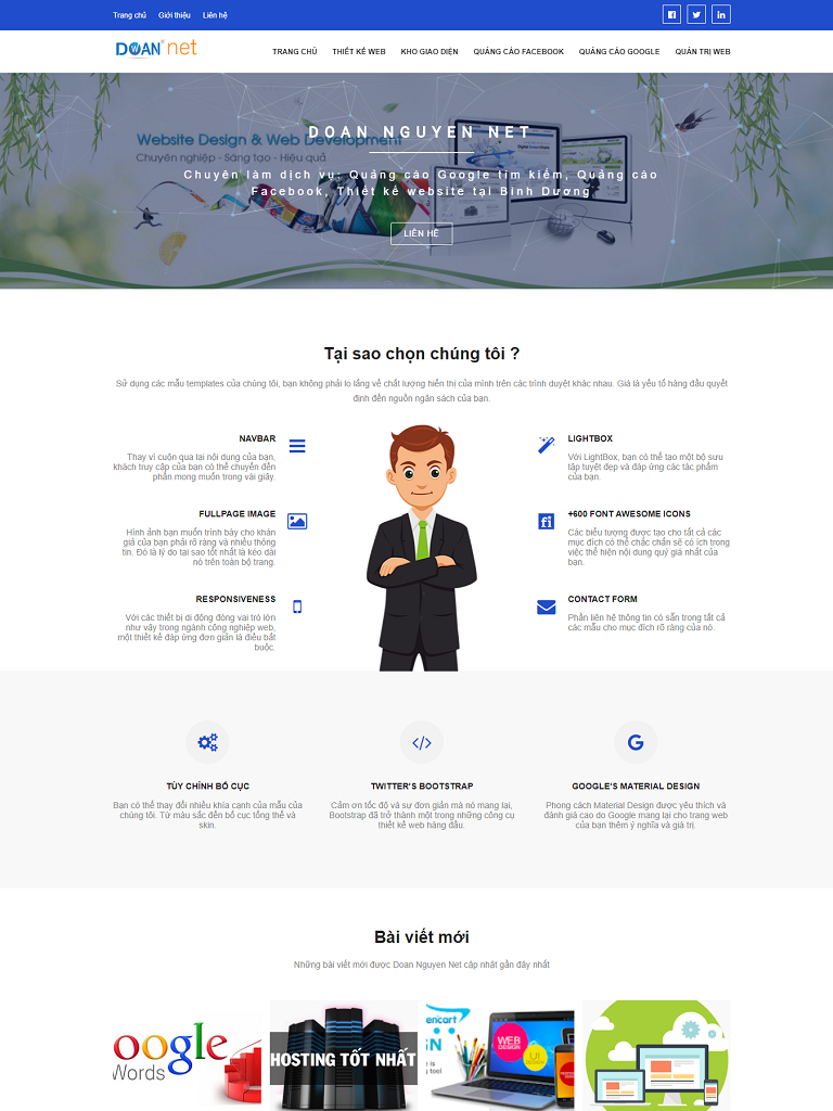 Template blogspot thiết kế web, quản trị web đẹp - Ảnh 1