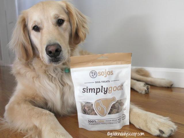 Sojos Simply Goat freeze-dried dog treats
