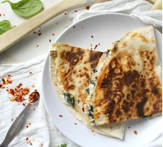 Vegetarian SPINACH ARTICHOKE QUESADILLAS #food
