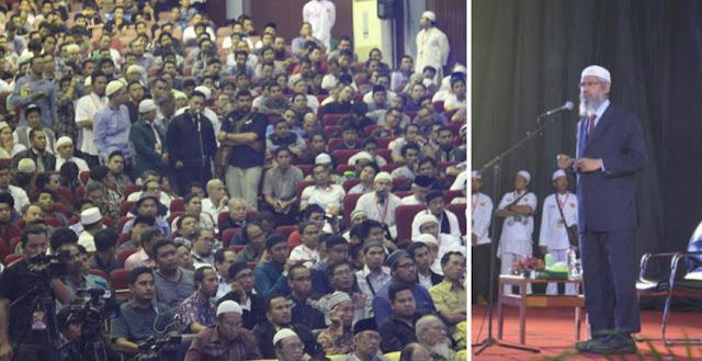 8 Non Muslim Bersyahadat Saat Dr Zakir Naik Ceramah di Makassar