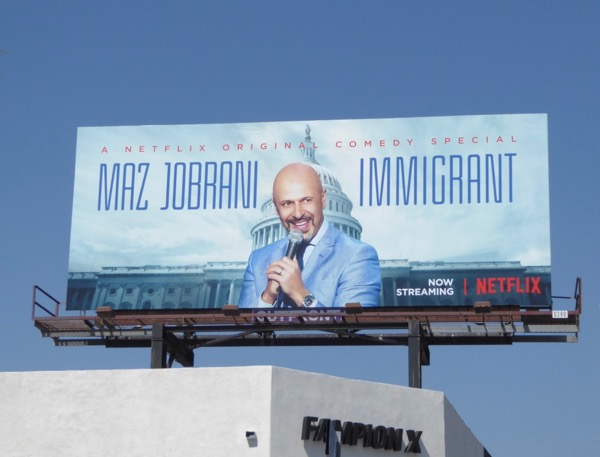 Max Jobrani Immigrant comedy special billboard