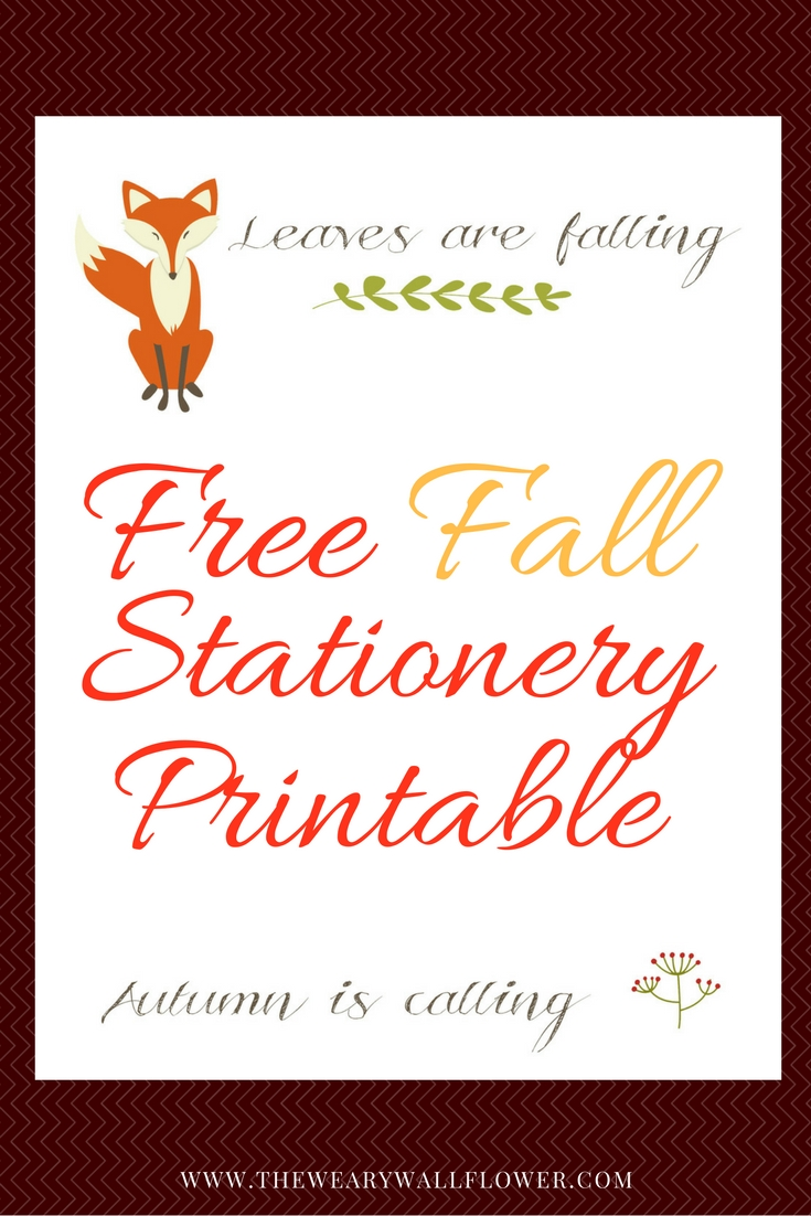 picture about Stationary Printable titled Totally free Autumn Stationery Printable for Tumble Notes - The Worn out