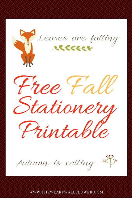 Autumn letter writing stationery