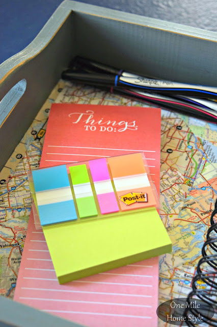 DIY Map Tray Portable Office Space Create and Share | One Mile Home Style