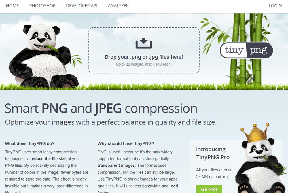 tinypng - Como reduzir o tamanho das imagens e melhorar a performance do blog