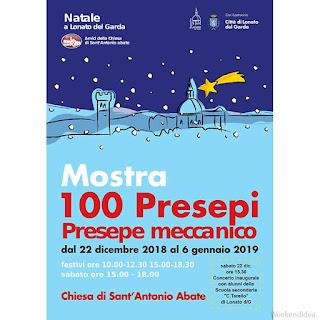 Mostra 100 presepi di Lonato del Garda dal 22 dicembre al 6 gennaio
