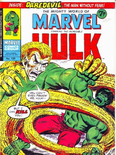 Mighty World of Marvel #120, Hulk vs Sand