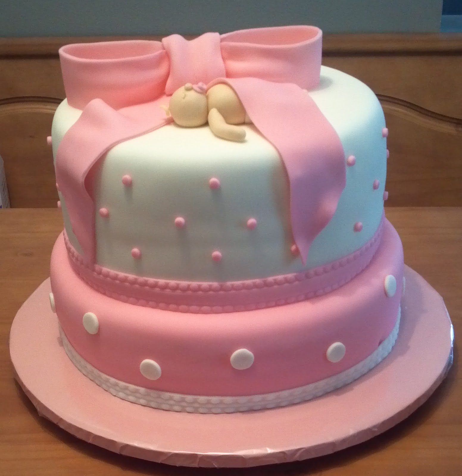 Wick D Cakes Pink Baby Shower Cake