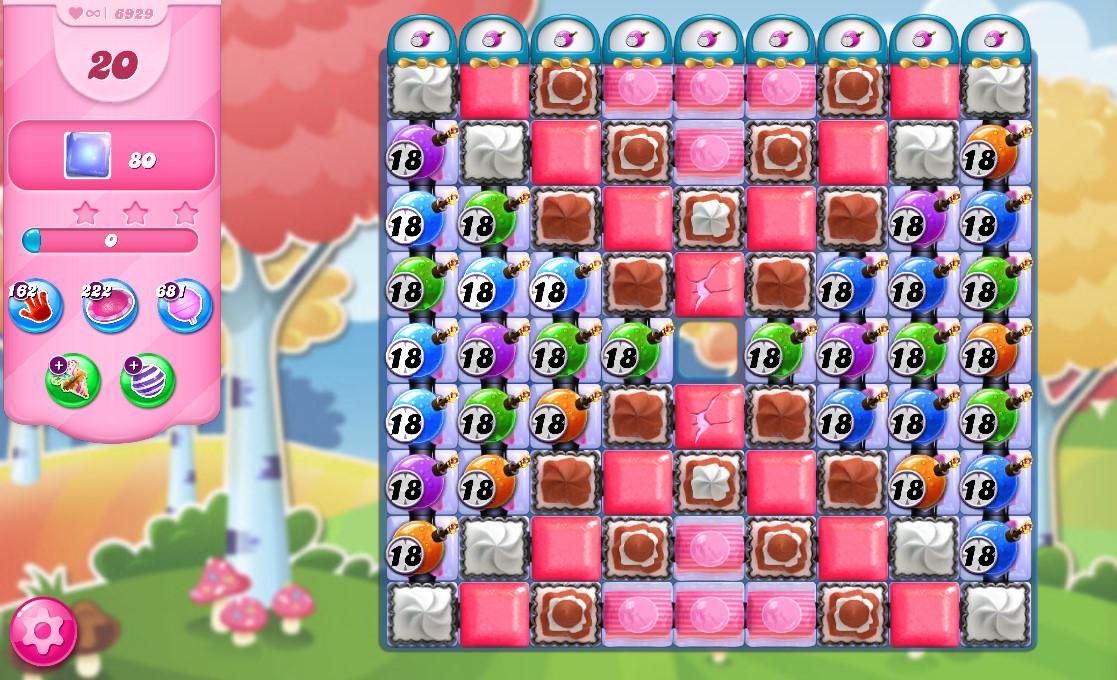Candy Crush Saga level 6929