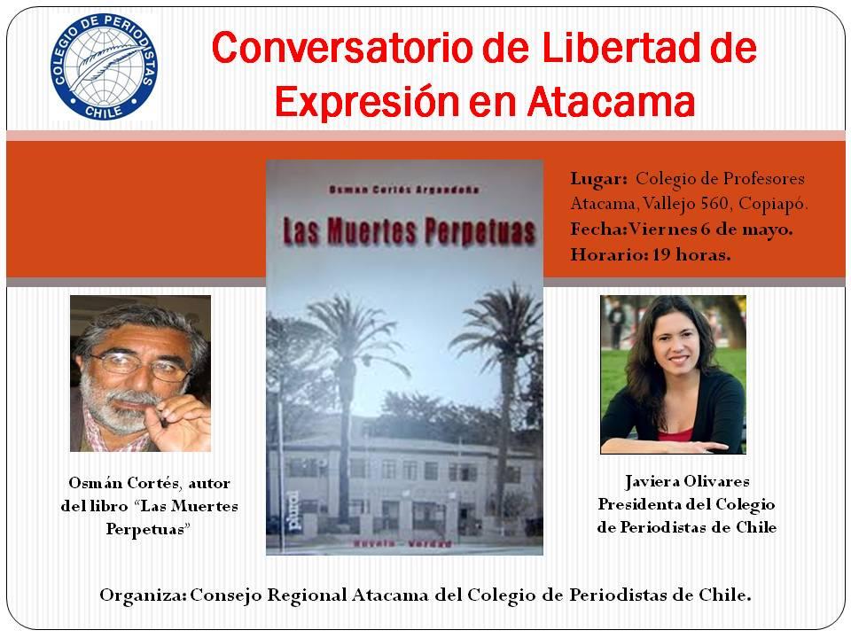 Invitación: Conversatorio de Libertad de Expresión en Atacama
