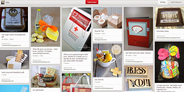 Gifts, Sick & Hard Time, Pinterest Board