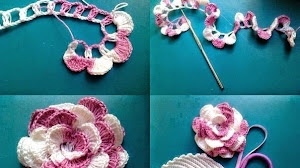 2 modelos de *Rosas* al crochet - Paso a paso