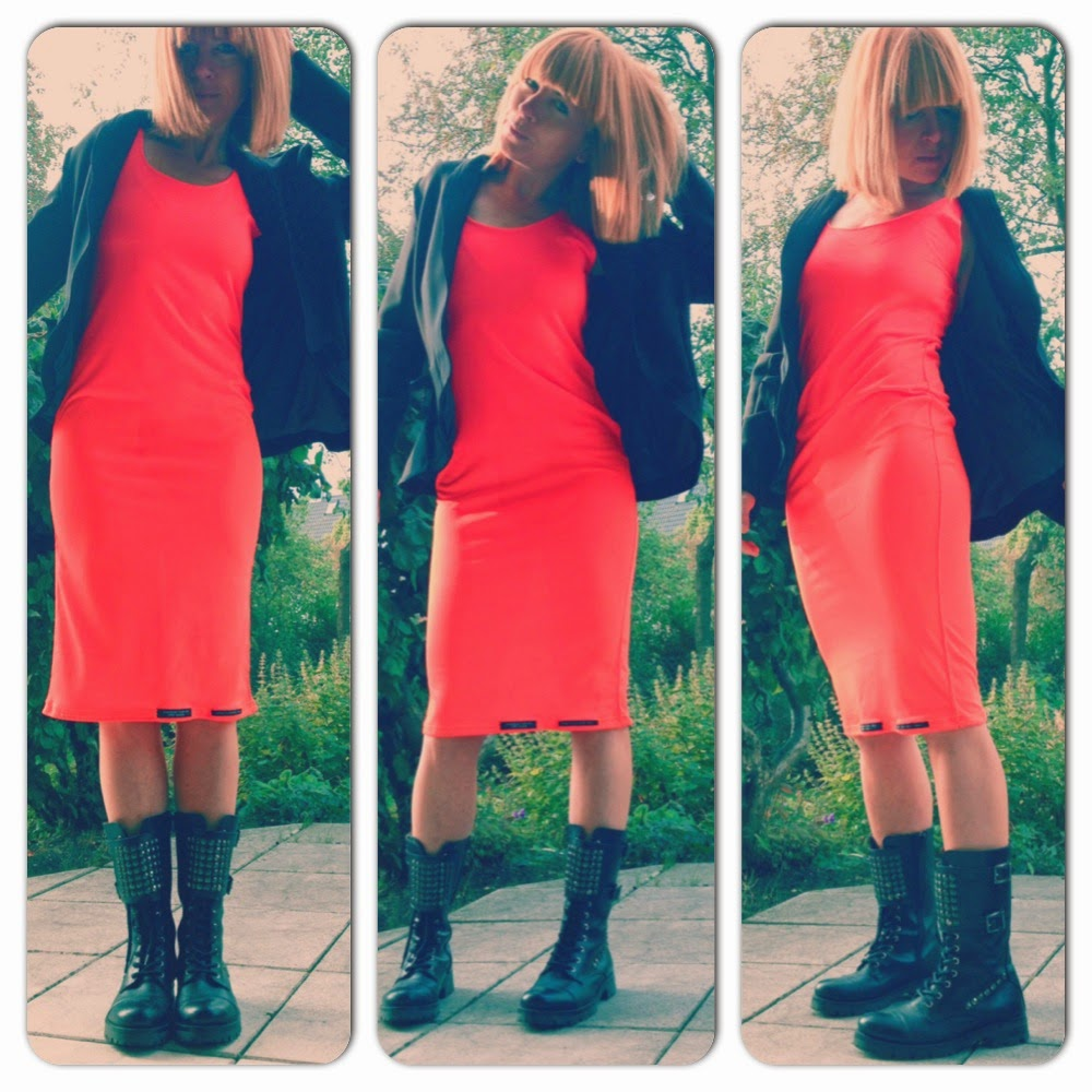 tubedress neonorange