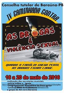Campanha contra as Drogas terá inicio nesta segunda (16) em Baraúna