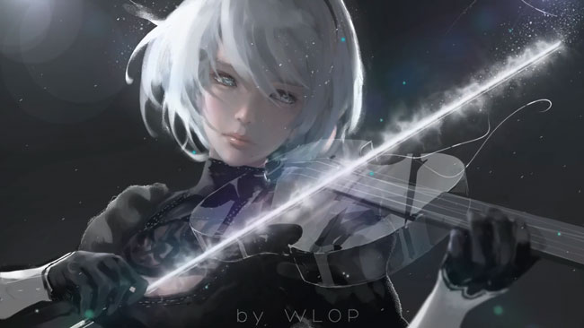 Nier Automata Fan Art Wallpaper 01 1920x1080: Nier Automata Silence Wallpaper Engine