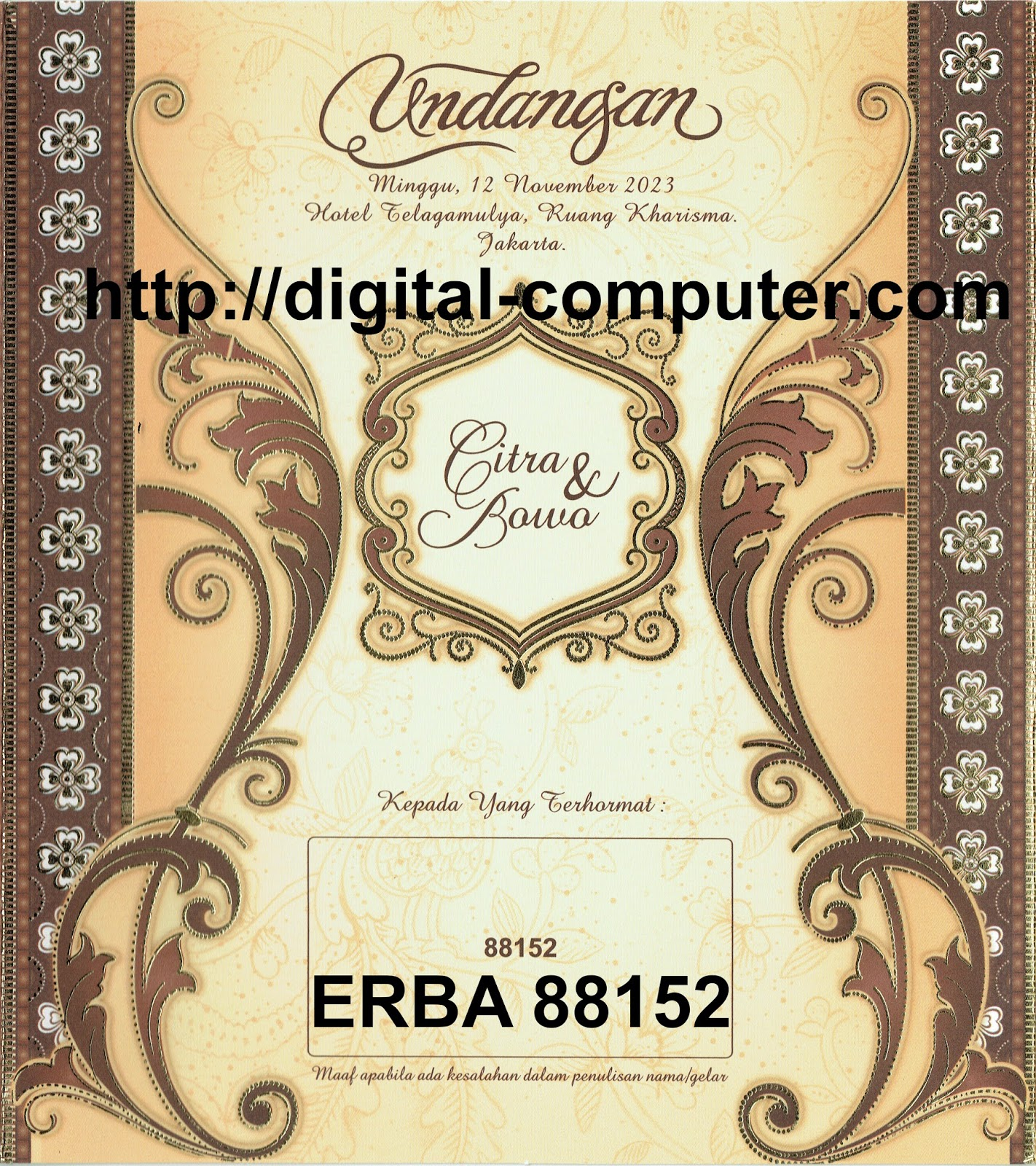 Undangan Softcover ERBA 88152