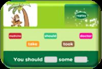 http://www.eslgamesplus.com/modal-verb-should-shouldnt-for-giving-advice-on-health-problems-esl-grammar-activity/