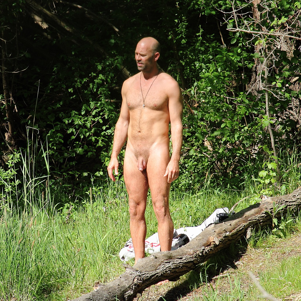 Nude men forest