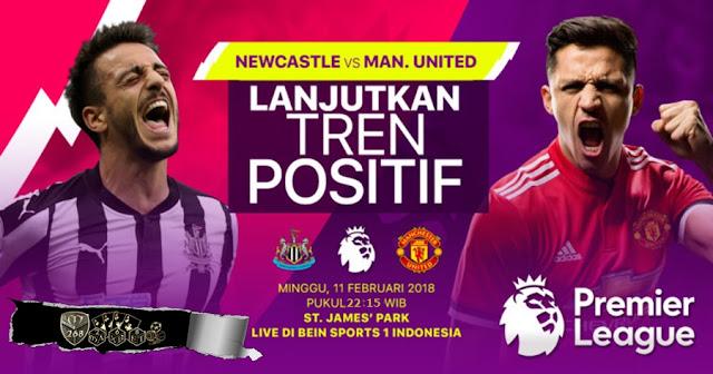 Prediksi Newcastle United Vs Manchester United, Minggu 11 February 2018 Pukul 21.15 WIB