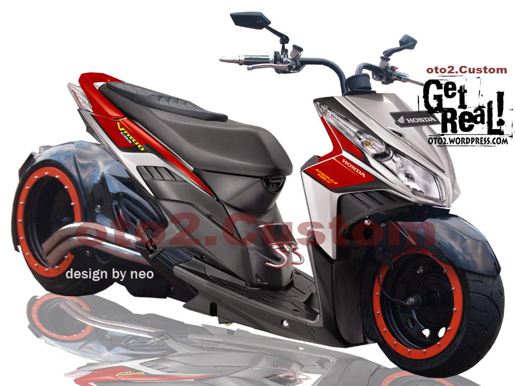 Honda Vario Modifikasi Motor - Modifikasi Vario Airbrush Style Vario