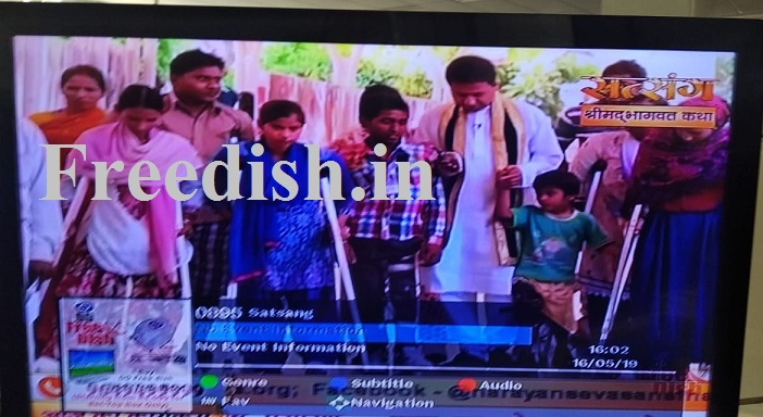 Satsang Channel added on MPEG-4 Slot on DD Freedish - 15 May