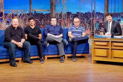 Paulo Mancha, Paulo Antunes, Rômulo, Everaldo e Danilo (Crédito: Gabriel Cardoso/SBT)