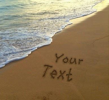 برنامج الكتابة على الرمال اون لاين بدون تحميل - كتابة اسماء على صور شاطىء و رمل