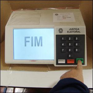 Tela de fim do voto na urna eletrônica.