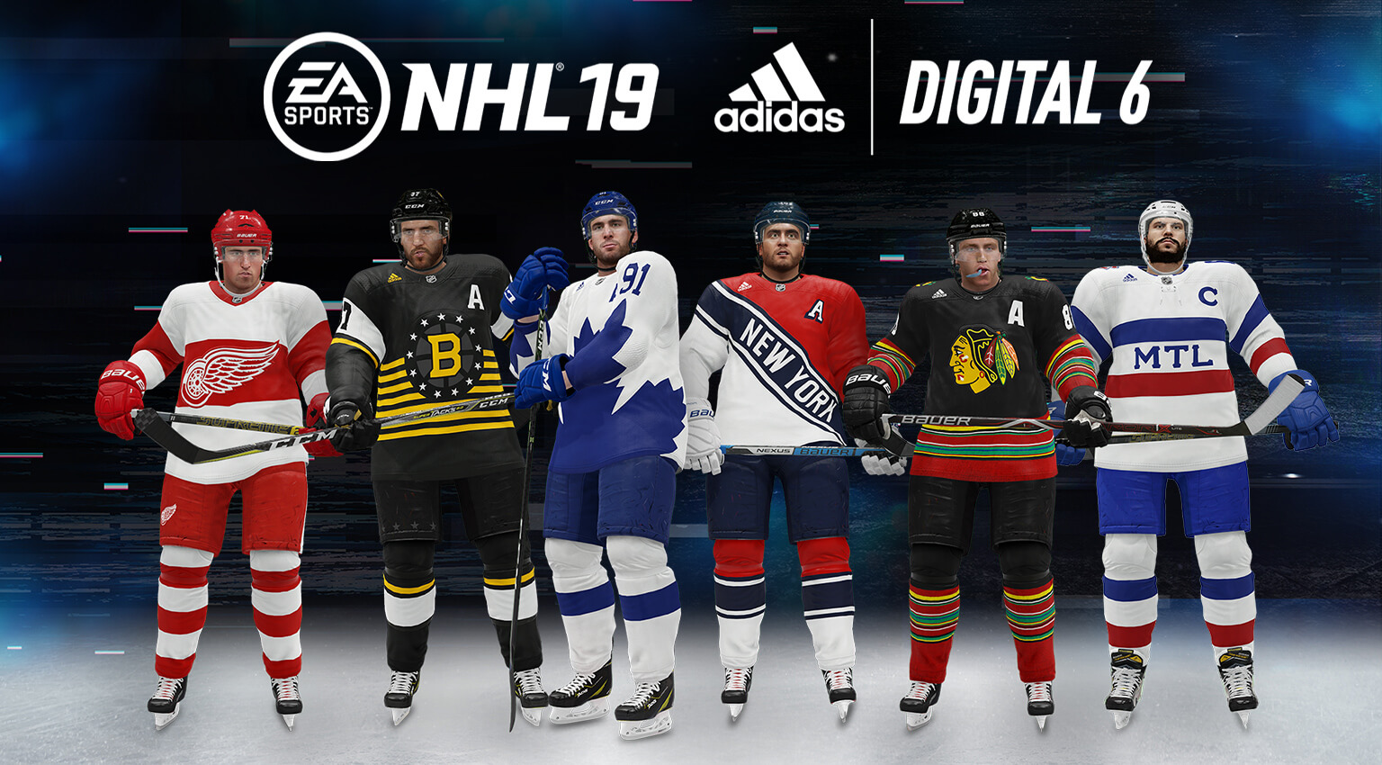2b67af1b7c4 Adidas has partnered with EA Sports to create a brand new set of NHL jerseys  that will only be available in EA Sports' NHL 19 video game!