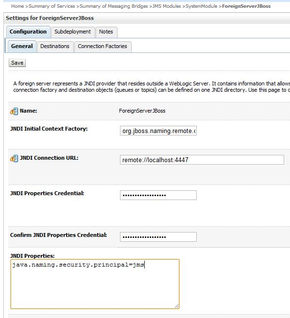 Java / Oracle SOA blog: WebLogic JMS / AQ bridge with JBoss AS 7