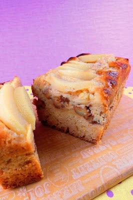 桃缶を使ったパウンドケーキ