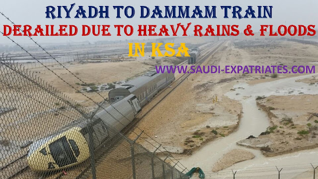 RIYADH TO DAMMAM TRAIN DERAILED