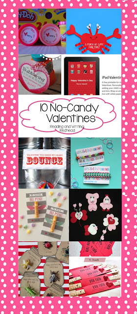 No-candy crafty Valentines from Reading and Writing Redhead