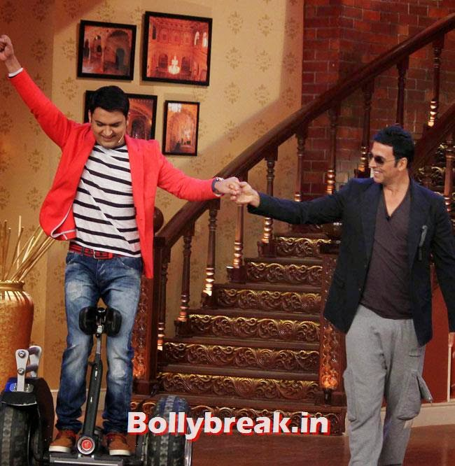Kapil Sharma and Akshay Kumar, Akshay Kumar on Comedy nights with Kapil for Holiday movie promotion
