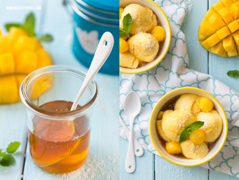 Mango Mousse Rezept mit Eistee Sirup