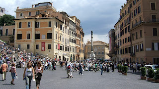 The bustling Piazza di Spagna in Rome