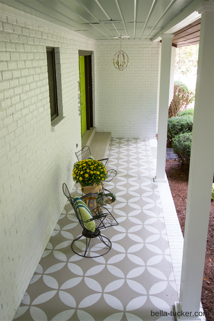 DIY to try # painted front porch floor - Ohoh Blog