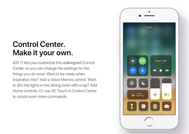 Without The 3D Touch You Can Now Access Extra Control Center Features  in iOS 11