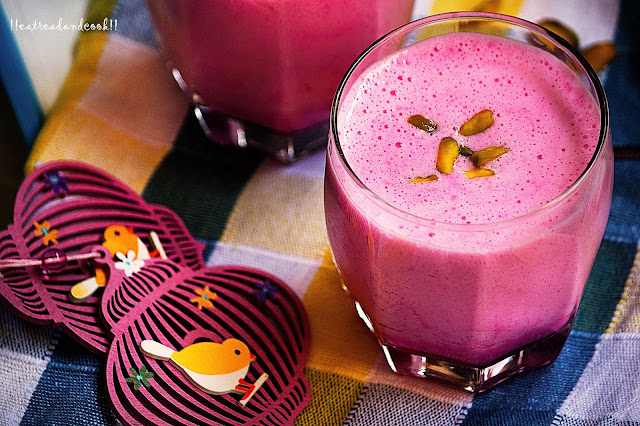 how to make Rose Lassi recipe
