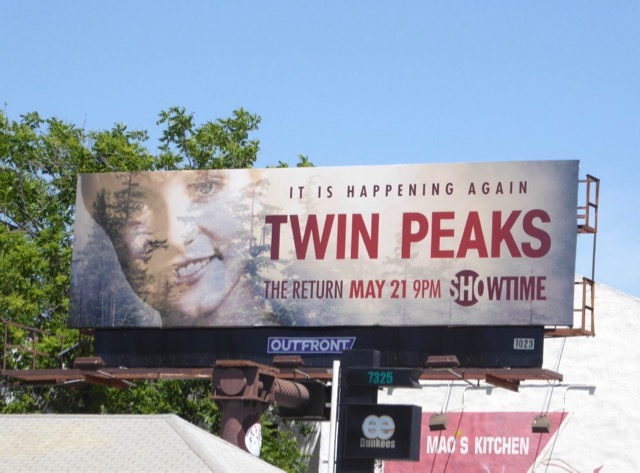 Laura Palmer Twin Peaks Return billboard