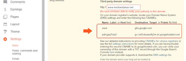 3 langkah cara mengganti domain blogspot di namecheap
