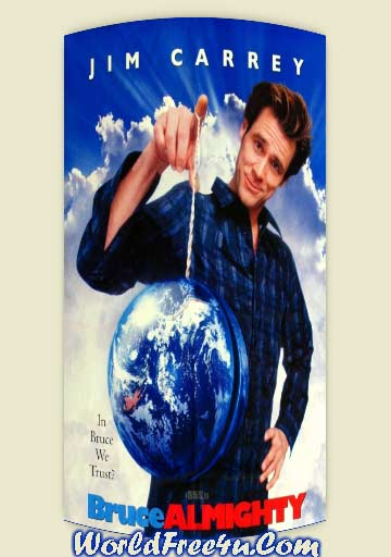 Poster Of Bruce Almighty (2003) In Hindi English Dual Audio 300MB Compressed Small Size Pc Movie Free Download Only At worldfree4u.com