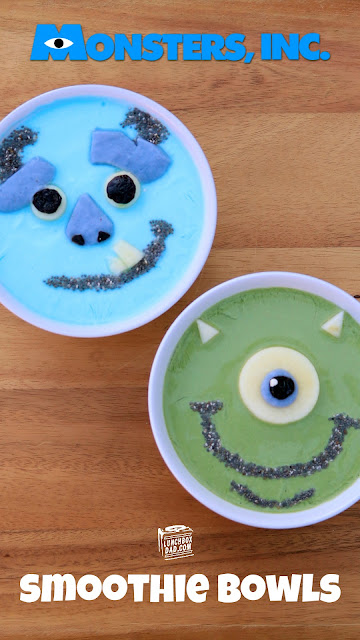 How to make Monster's Inc. Mike and Sully Smoothie Bowls!