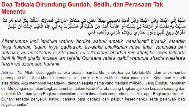 Doa Ketika Sedih Dan Gundah Hati Sesuai Sunnah