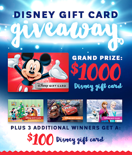 Enter the MACU Disney Gift Card Giveaway. Ends 1/8