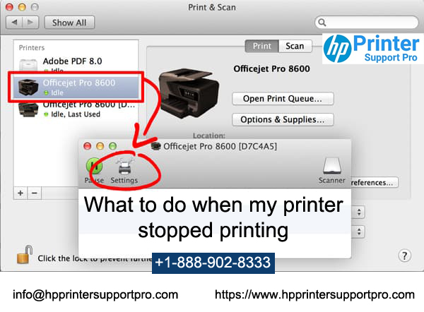 What to do when my printer stopped printing?